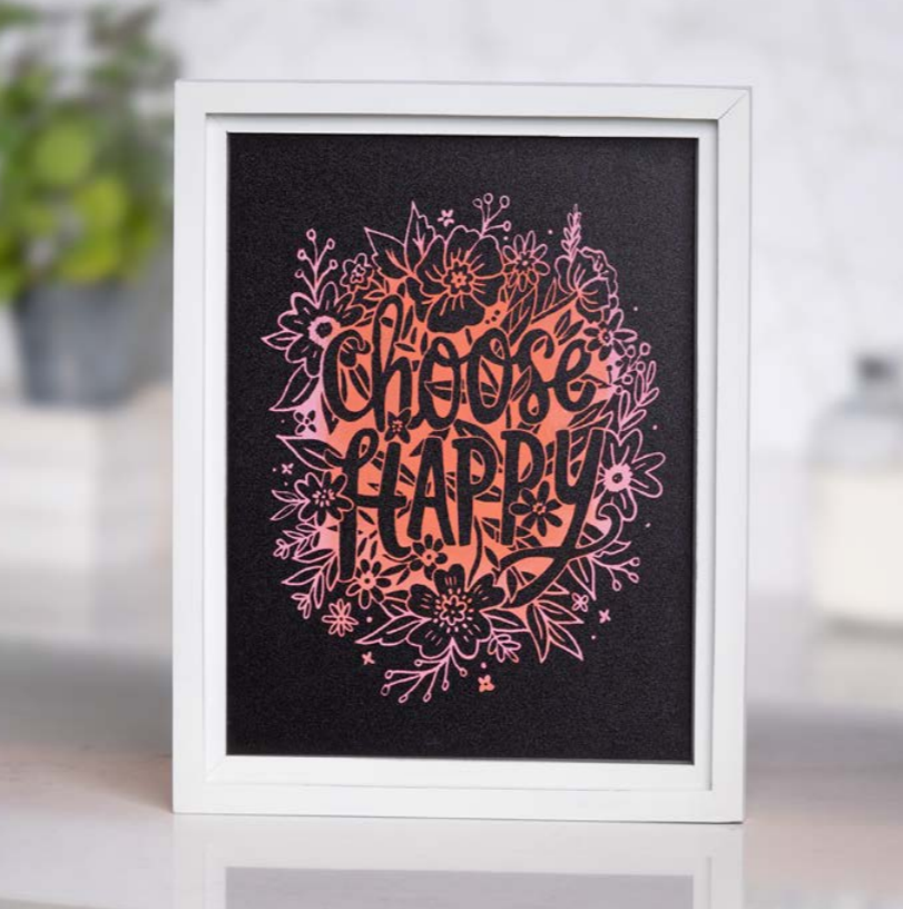 Perfect Creative Christmas Gift to Yourself Choose Happy Chalk Couture Kickstarter Transfer