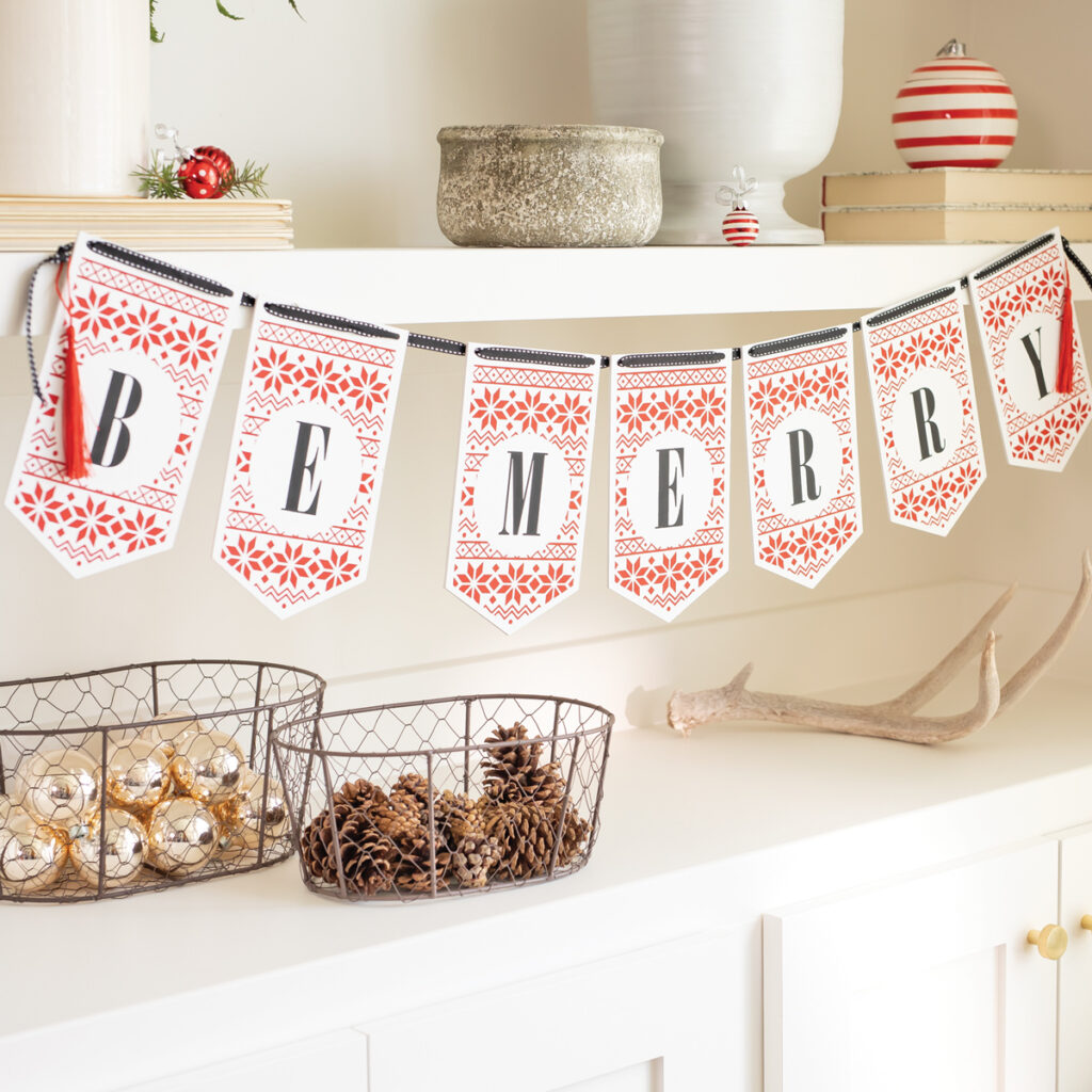 Crafting Night - that chalky gal - jana zuercher - independent designer - Chalk Couture - Be Merry Banner Kit Bundle